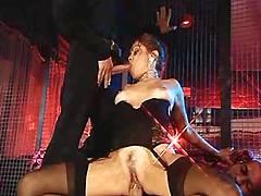 Sexy lady get sendwiched