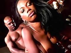 Titty ebony gets facial