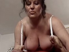 Sex with ardent busty mom