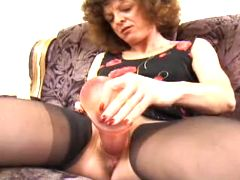 Granny with monster dildo