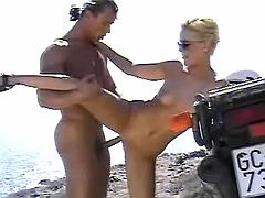 Hot slutty fucks on beach