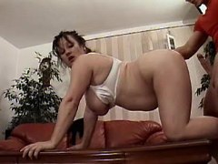 Chubby mom in doggy style