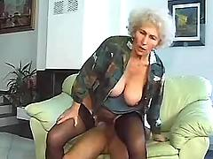 Old fart gets dick ride