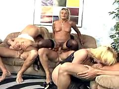 Three old sluts gangbang